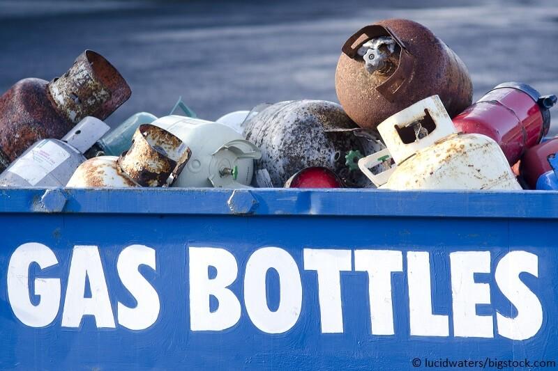 Gasflaschen entsorgen