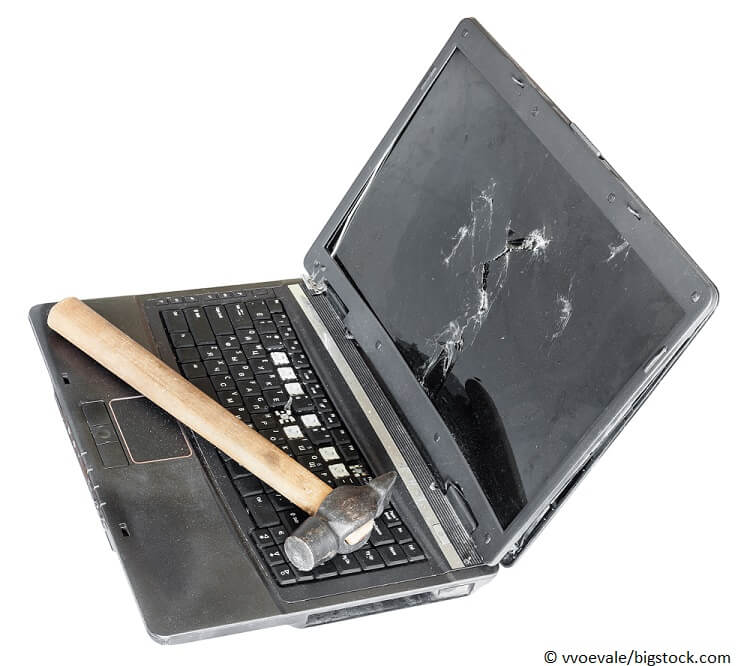 Laptop entsorgen