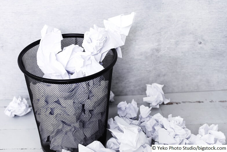 Papier entsorgen